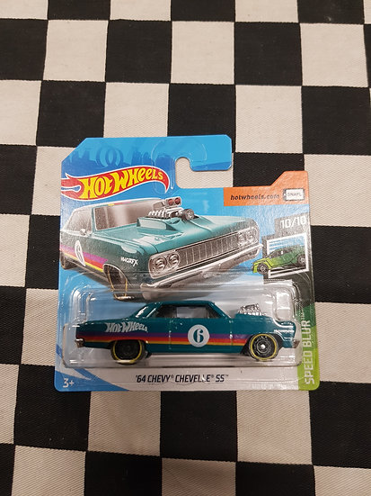 Hot Wheels 2019 Speed Blur 64 Chevy Chevelle SS Green Short Card