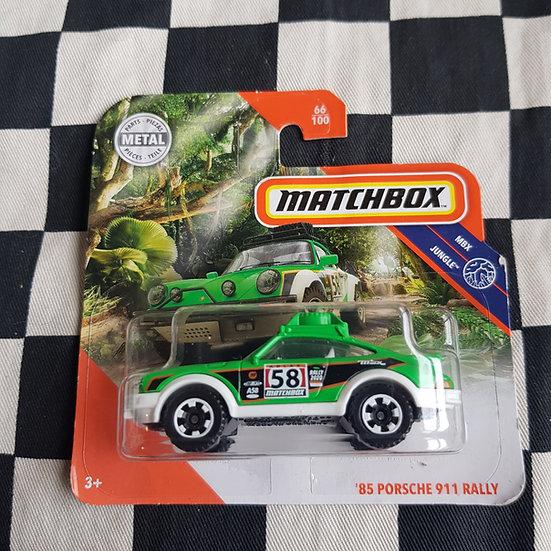 Matchbox Mbx Jungle 85 Porsche 911 Rally Short Card