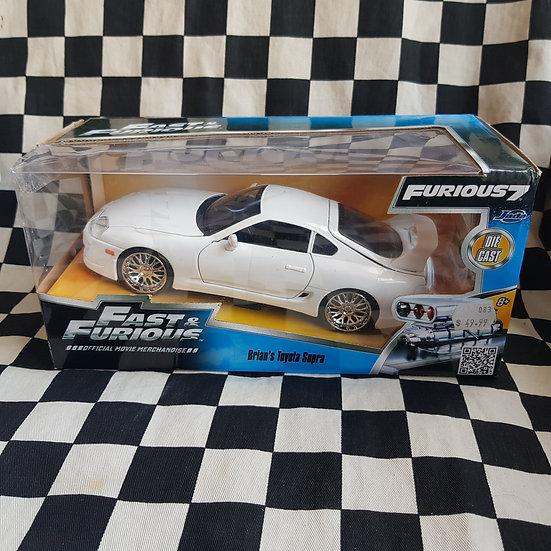 Jada 1:24 Fast & Furious 7 Brian's Toyota Supra White