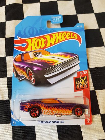 Hot Wheels 2017 Flames 71 Mustang Funny Car