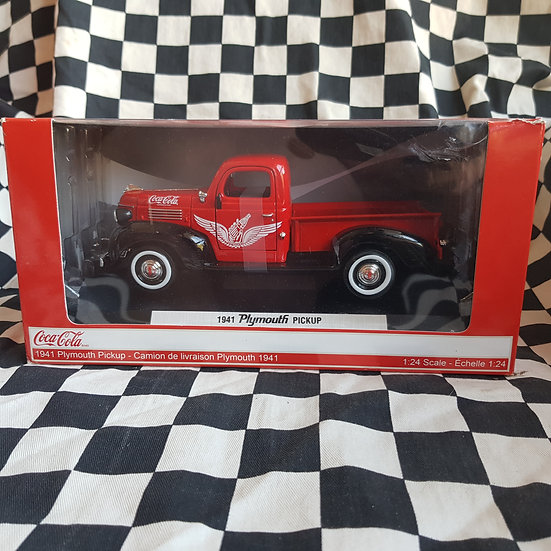 Coca Cola 1/24 1941 Plymouth Pickup Truck Diecast Model