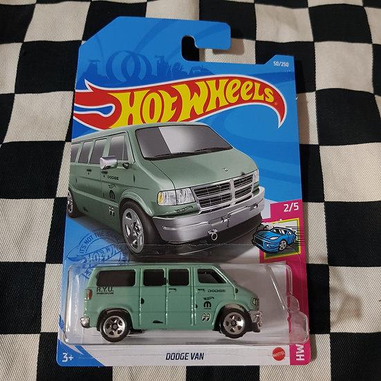 Hot Wheels 2021 Drift Dodge Van Green Go Cart