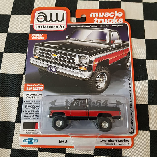 Auto World Muscle Trucks 1978 Chevy K10 Silverado Fleetside