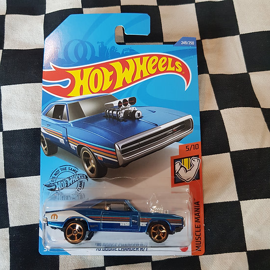 Hot Wheels 2020 Muscle Mania 70 Dodge Charger RT Blue