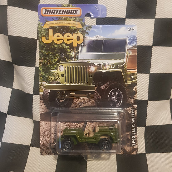 Matchbox Jeep Series 1943 Willys Jeep Army Green