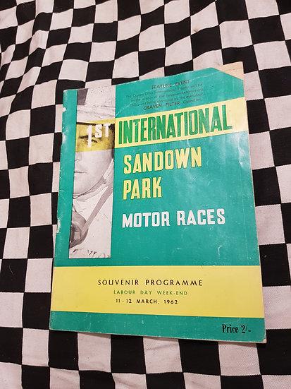 VERY FIRST SANDOWN MOTOR RACING PROGRAM 1962