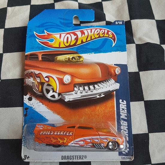 Hot Wheels 2011 Dragsterz 49 Drag Merc Orange