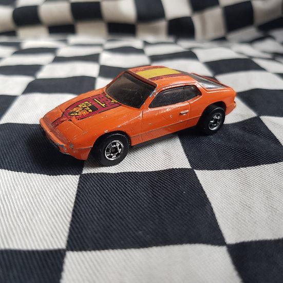 Vintage Loose Hot Wheels Blackwall Upfront 924 Porsche Orange