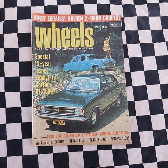 Wheels Magazine May 1968 Zephyr Cortina Monaro Xt Falcon