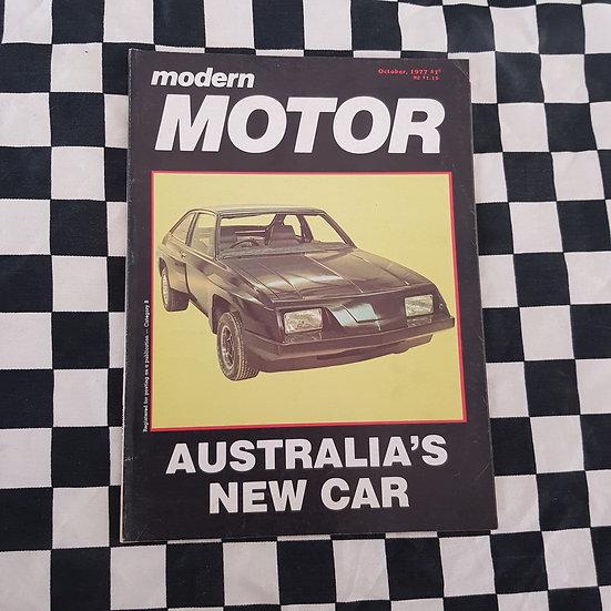 Modern Motor October 1977 Torana Mystere Valiant Drifter Van