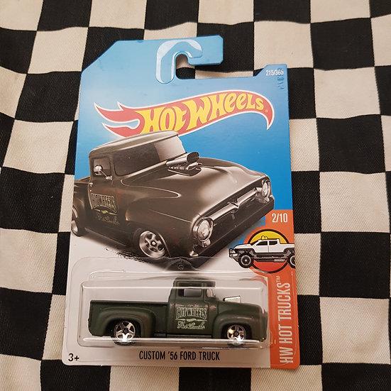 Hot Wheels 2018 Hot Trucks Custom 56 Ford F100 Truck Dark Green