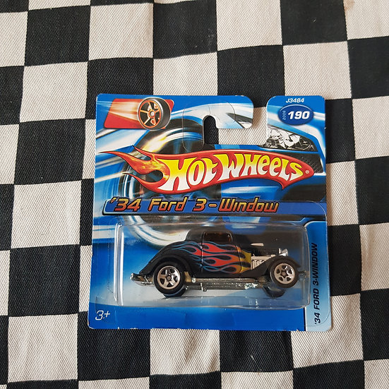 Hot Wheels 2006 34 Ford 3 window Coupe Grey Short Card Hot Rod