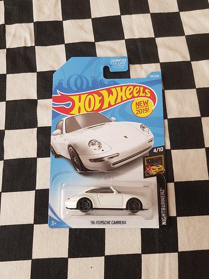 Hot Wheels 2019 Nightburnerz 96 Porsche Carrera White