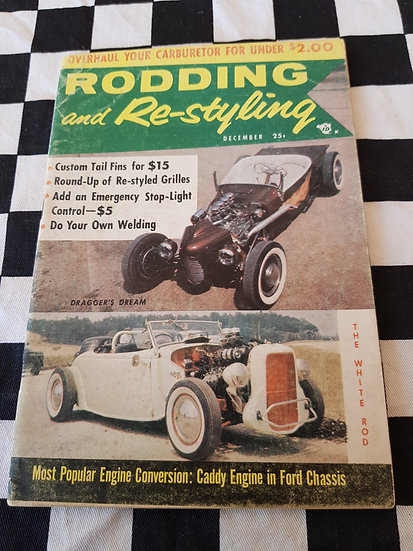 (LITTLE PAGES) RODDING & RESTYLING magazine December 1956