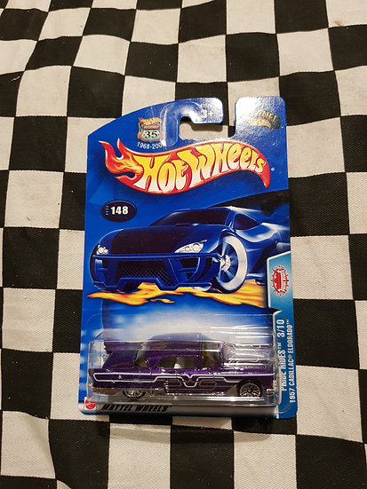 Hot Wheels 2003 Pride Rides 1957 Cadillac Eldorado Purple
