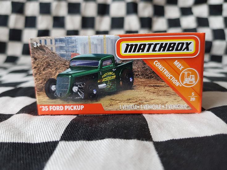 Matchbox 35 Ford Pickup Hot Rod Rat Rod Green