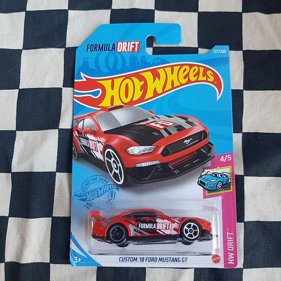 Hot Wheels 2021 Drift Custom 18 Ford Mustang GT Formula Drift RED