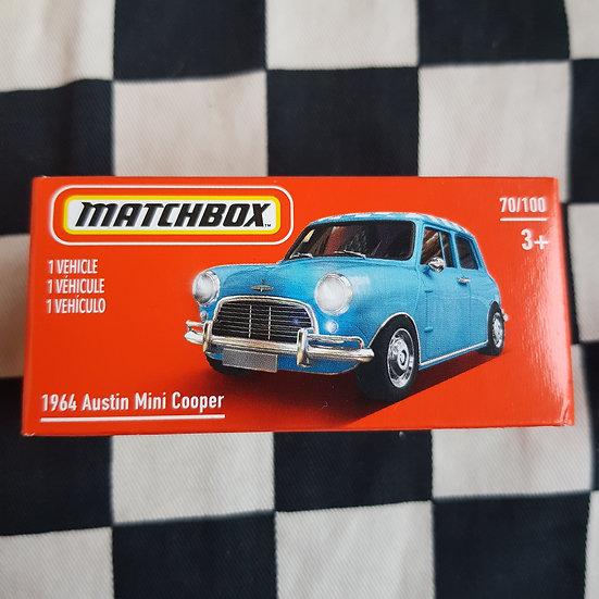 Matchbox Power Grab 1964 Austin Mini Cooper Blue
