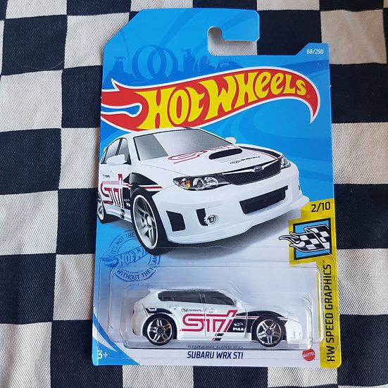 Hot Wheels 2021 Speed Graphics Subaru WRX STI White