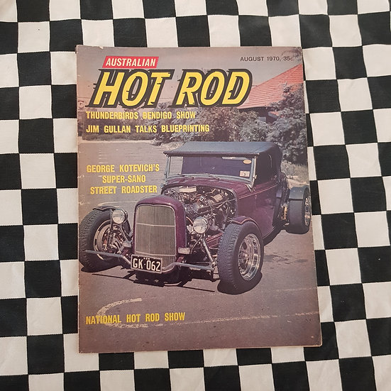 Australian Hot Rod Magazine August 1970