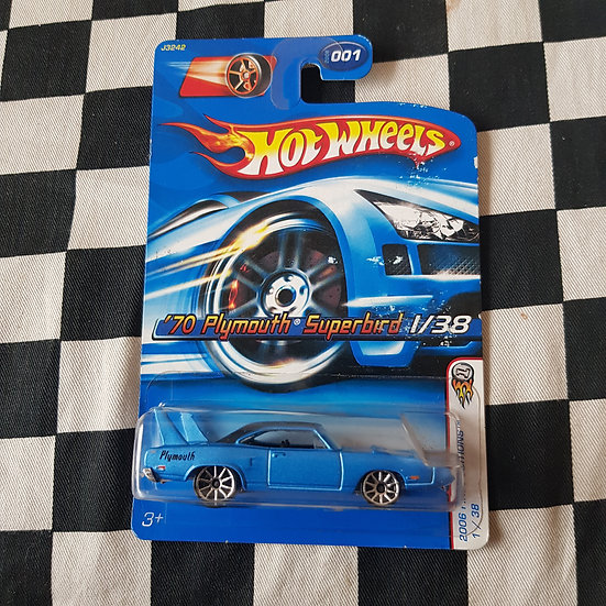 Hot Wheels 2006 First Edition 70 Plymouth Superbird Blue 10 Sp