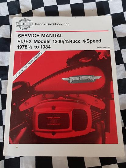 Genuine Harley Davidson softail FL/FX 1200/1340 4speed 1978-1984 workshop manual