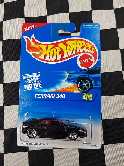 Hot Wheels 1995 #443 Blue Card Ferrari 348 Black