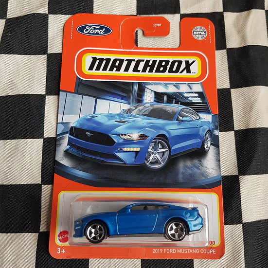 Matchbox 2021 @019 Ford Mustang Coupe Blue