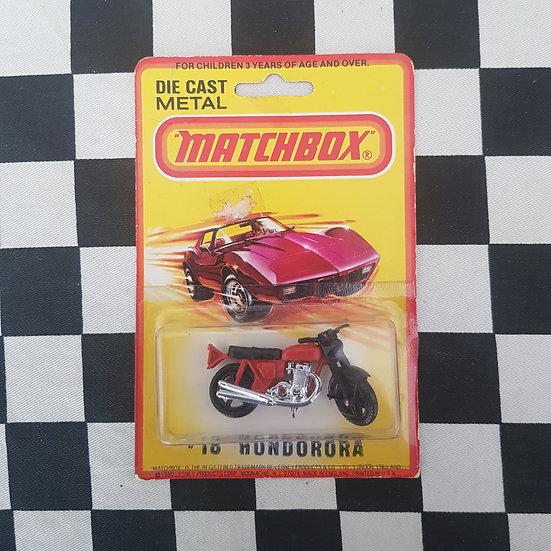 Vintage 1980 Matchbox Hodorora Honda Motorcycle Carded