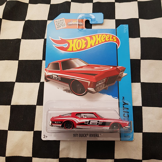 Hot Wheels 2013 City MR GASKET 1971 Buick Riviera Boat Tail Red