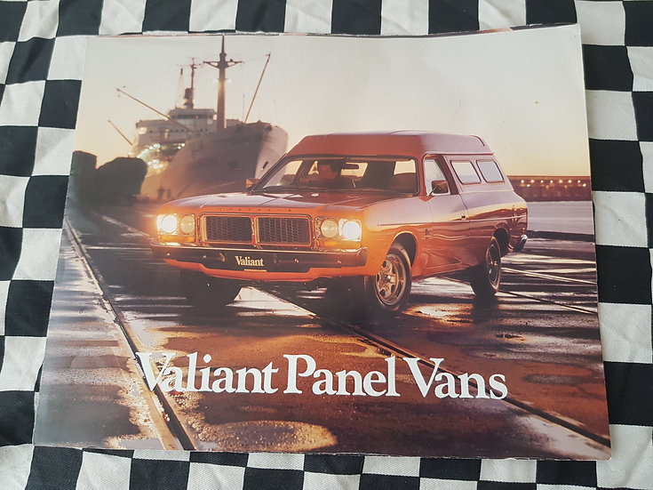 Original CL valiant Panel Van Sales Brochure Drifter