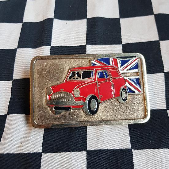 Morris Mini Cooper S Belt Buckle Red
