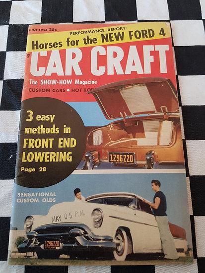 (LITTLE PAGES) CAR CRAFT  magazine june 1954