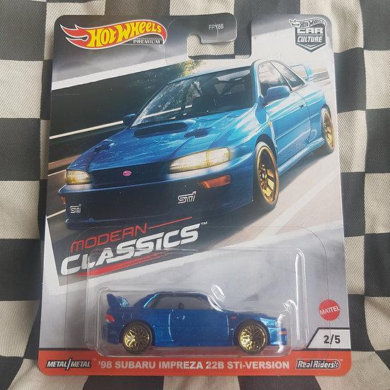 Hot Wheels Premium Modern Classics 98 Subaru Impreza 22B Sti Version Blue