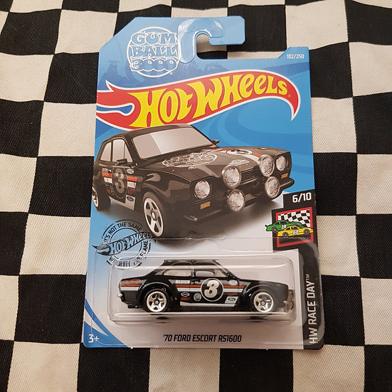 Hot Wheels 2019 Race Day Gum Ball 3000 70 Ford Escort RS1600 Black