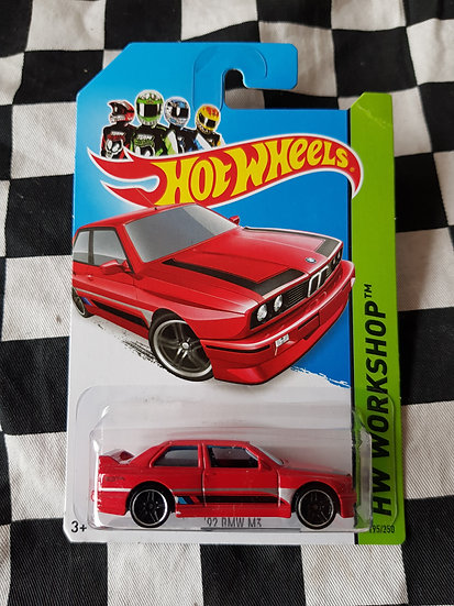 Hot Wheels Workshop 2013 92 BMW M3 Red