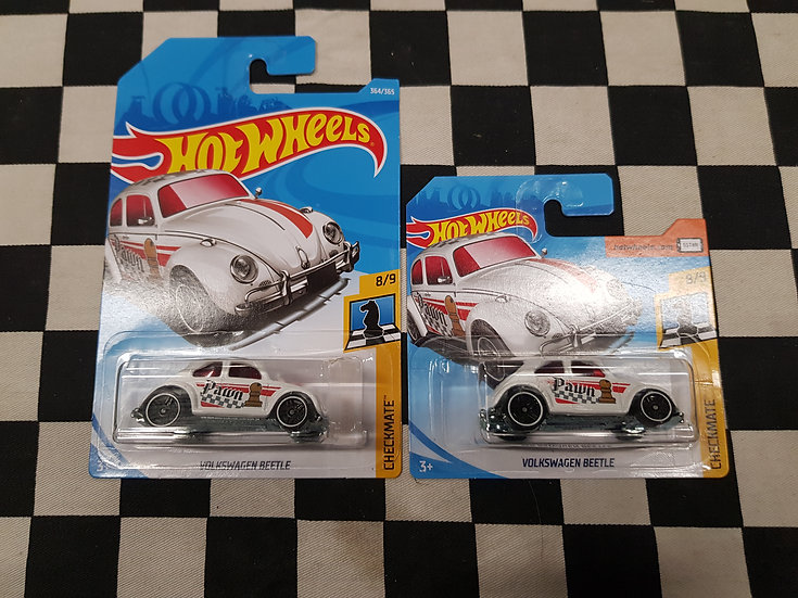 Hot Wheels 2018 Checkmate Volkswagen Beetle White Pawn Short & Long Available