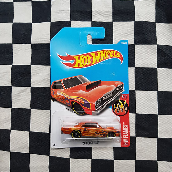 Hot Wheels 2018 Flames 68 Dodge Dart Orange