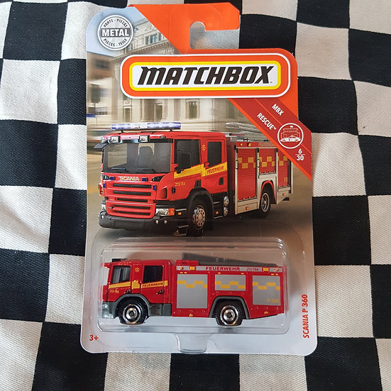 Matchbox MBX Rescue Scania P 360 Fire Engine