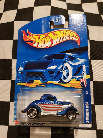 Hot Wheels 2002 American Series 3 Window 34 Ford Hotrod