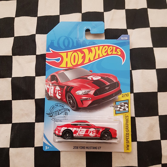Hot Wheels 2020 Speed Graphics 2018 Ford Mustang GT Red