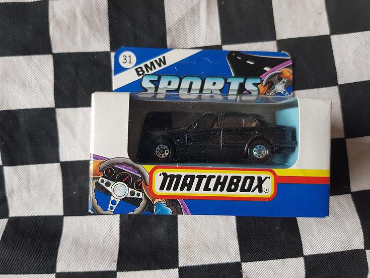 Matchbox Boxed 1991 BMW Sports BMW 5 Series Black