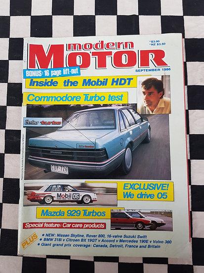 Modern Motor September 1986 Mobil HDT Brock VL Turbo