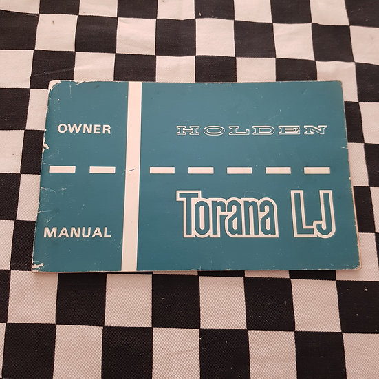 Original LJ Torana Owners Manual Very Nice! incl GTR