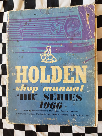 Genuine hoden Hr factory workshop manual