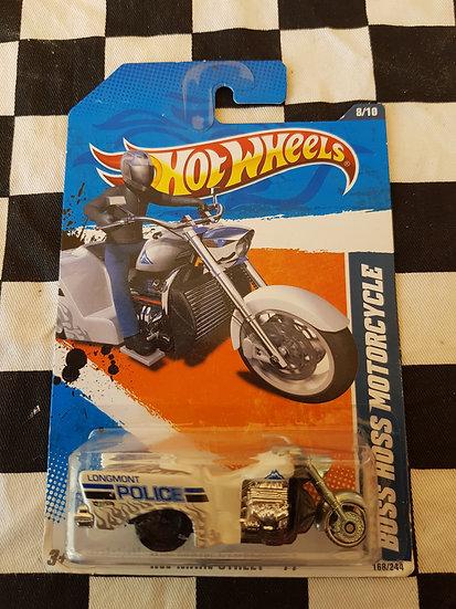 HOTWHEELS ERROR Boss Hoss Motor Cycle ( black back wheel)
