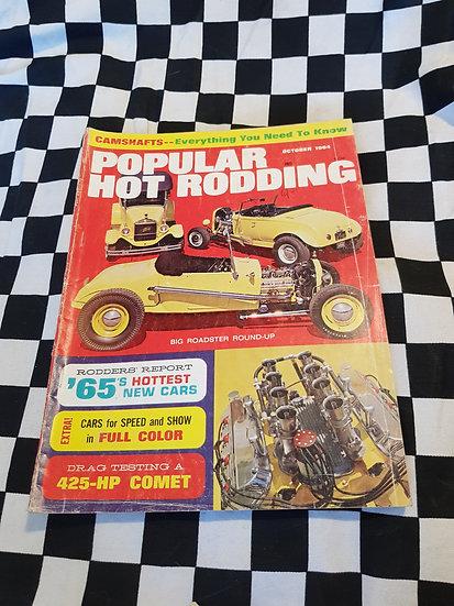 Popular Hot Rodding Magazine October 1964