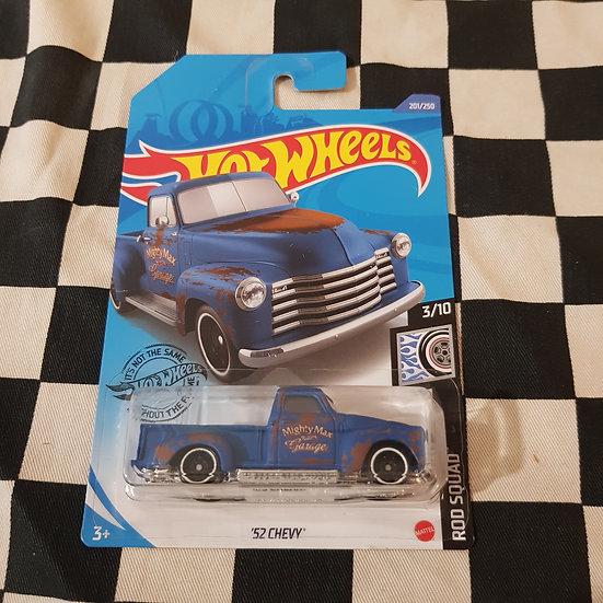 Hot Wheels 2020 Rod Squad 52 Chevy Pickup Blue