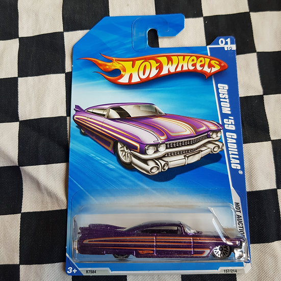 Hot Wheels 2010 Hot Auction Custom 59 Cadillac Purple