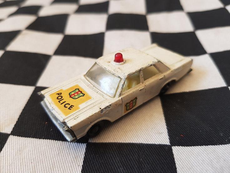 Vintage Lesney Ford Galaxy Police Car